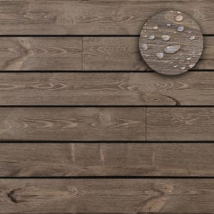 Waterproof Barnwood Shiplap - Driftwood Brown
