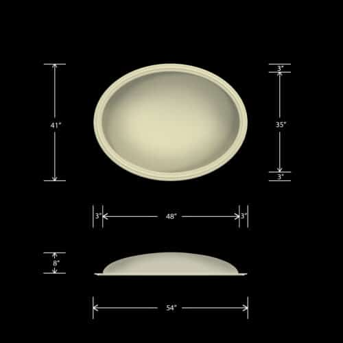 Ceiling Dome - Elliptical 41X54 - Classic Smooth