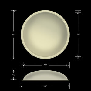 Ceiling Dome - Round 64 Inch - Classic Smooth