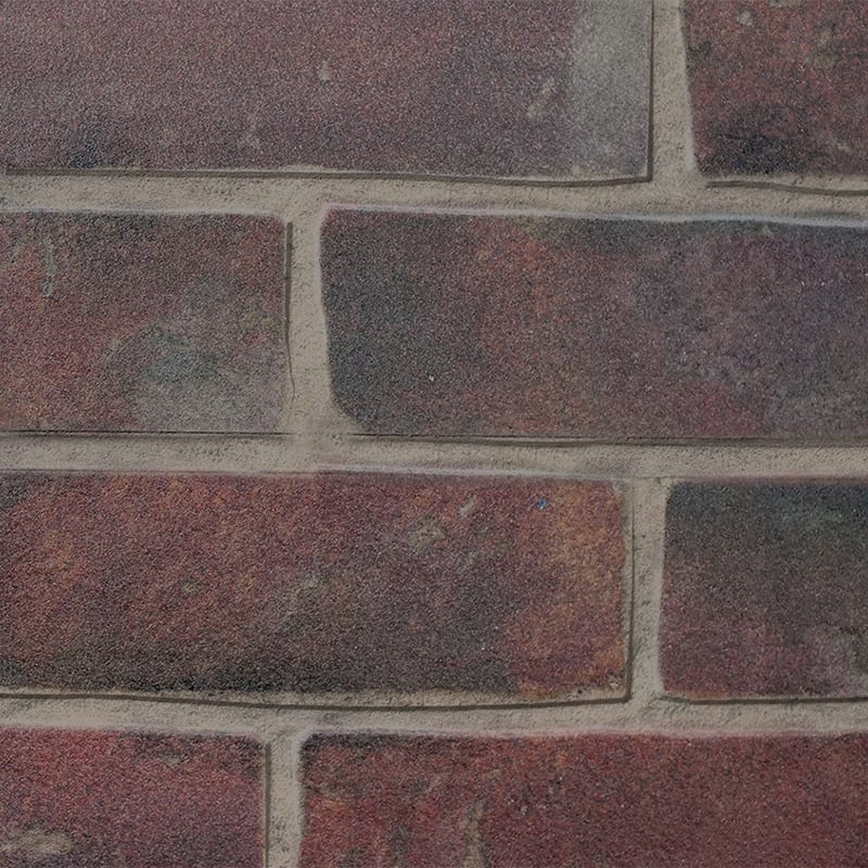 MDF Ceiling & Wall Planks - Faux Brick - Classic Red