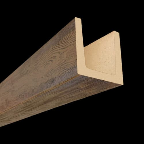 Faux Wood Ceiling Beams - Molded Series - OLD WORLD - Chestnut