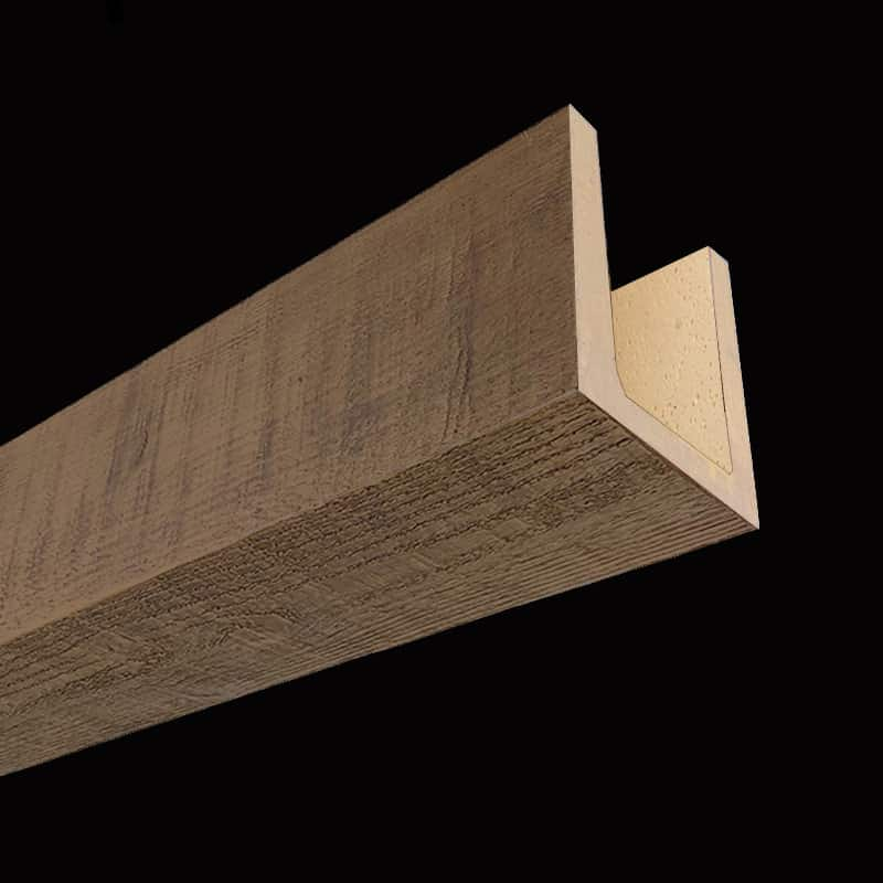Faux Wood Ceiling Beams - Molded Series - Rough Sawn - Chestnut