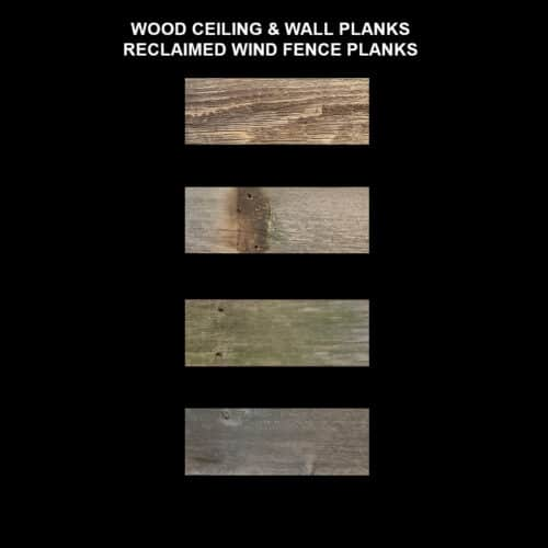 Wood Ceiling & Wall Planks - Reclaimed Wind Fence Samples
