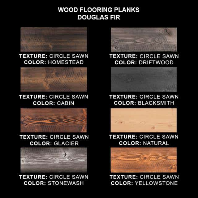 Douglas Fir - Wood Flooring SAMPLES - Circle-Sawn