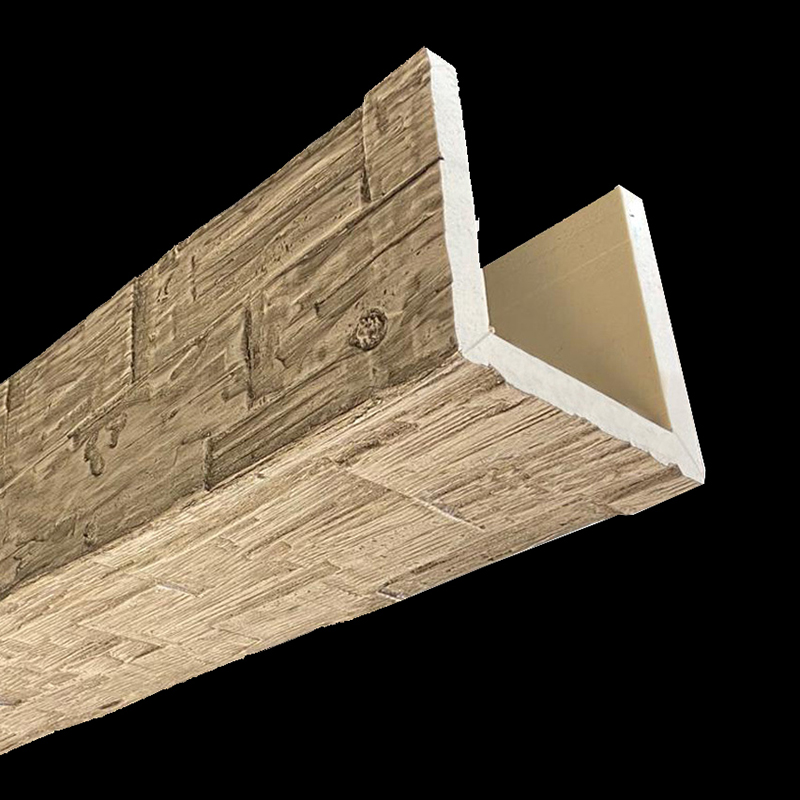 Faux Wood Ceiling Beams - HAND HEWN - Driftwood