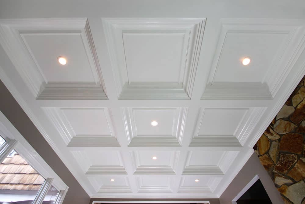 coffered ceiling, box beam ceiling